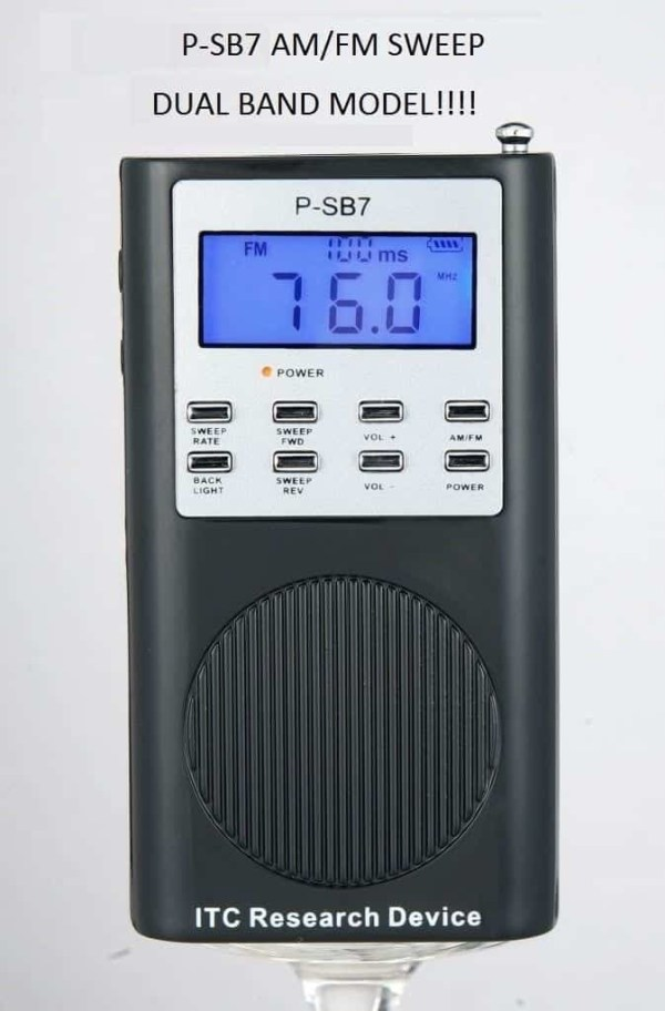 p-sb7 sweep radio spirit box