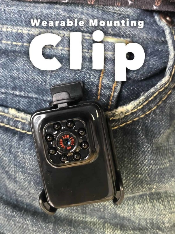 Covert Wearable Undercover Body Cam Night Vision Ghost