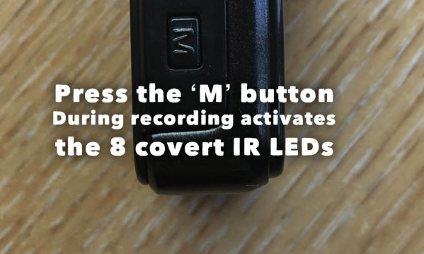 Covert Wearable Undercover Body Cam Night Vision