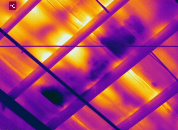 Wet insulation metal roof1 0 1 - Roof Scan Infrared