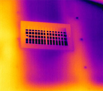 noinsulationaroundvent 1 - Building Infrared