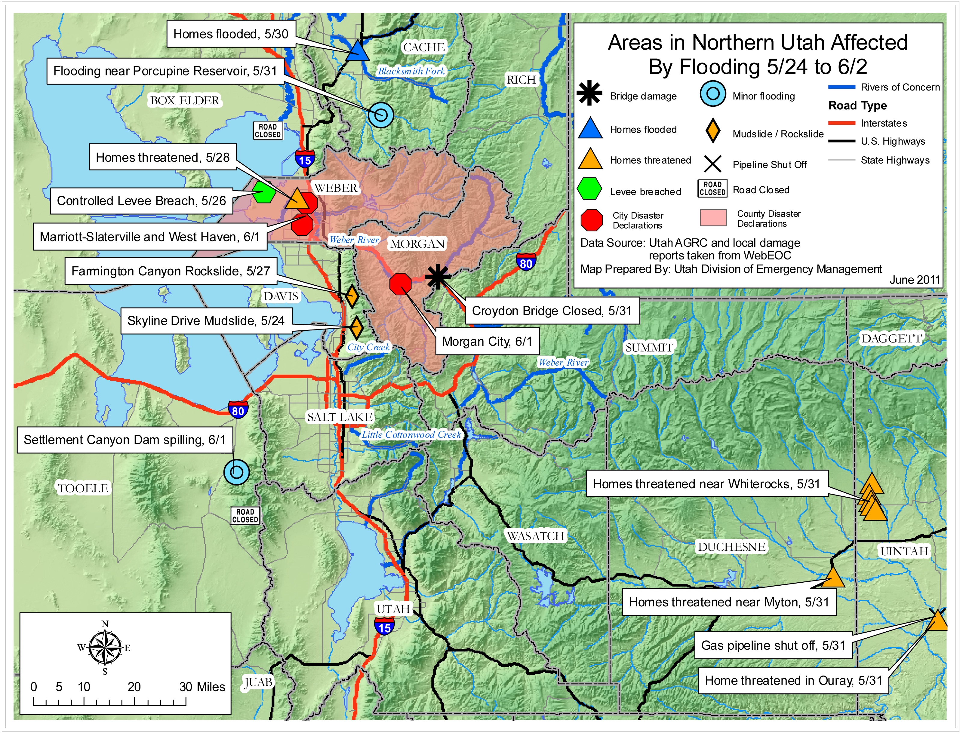 Utah Flooding Situation Reports | InfrastructureUSA: Citizen ...