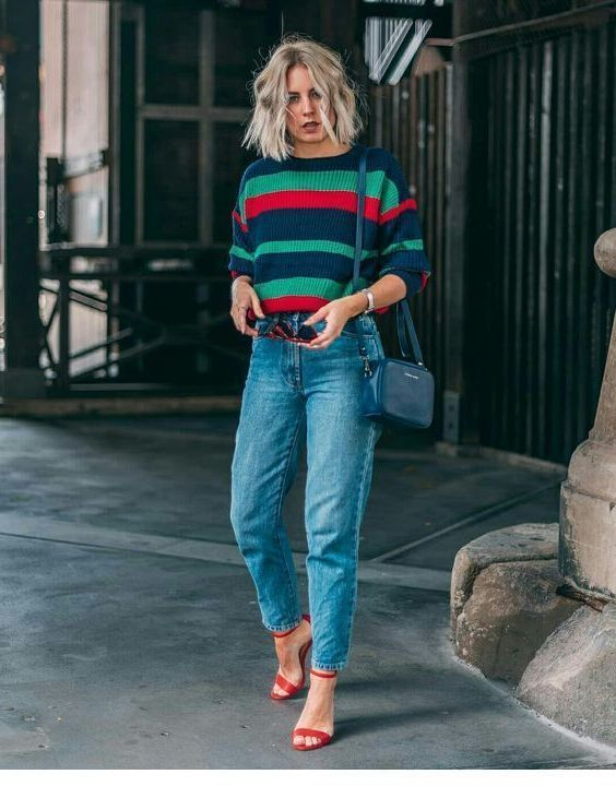 looks con mom fit jeans