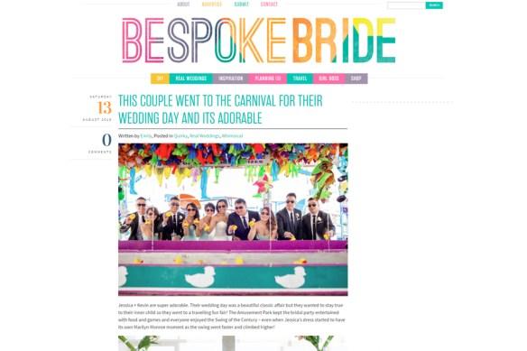 Creative Edmonton wedding photography on Bespoke Bride