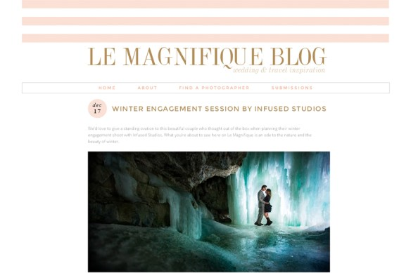 Winter engagement session on Le Magnifique