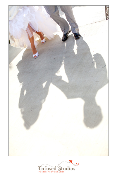 Bridal portraits with shadows