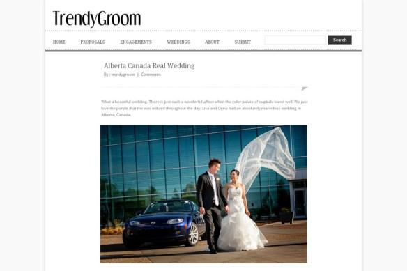 Featured Wedding :: Lisa + Drew on Trendy Groom