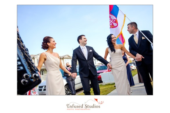 Classic ivory wedding party