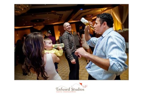 Wedding reception drink off