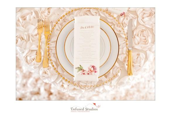 Paris inspired styled wedding shoot by Edmonton wedding photographers :: place setting