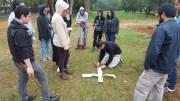 Relevamiento fotogramétrico sobre el Campus de la UNA por medio de un drone