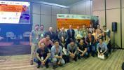 Expositores extranjeros con estudiantes de Ingenieria Civil del 9no. semestre
