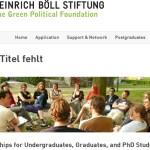 1.000 Becas de la Fundación Heinrich Böll