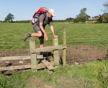 Stile over a fence