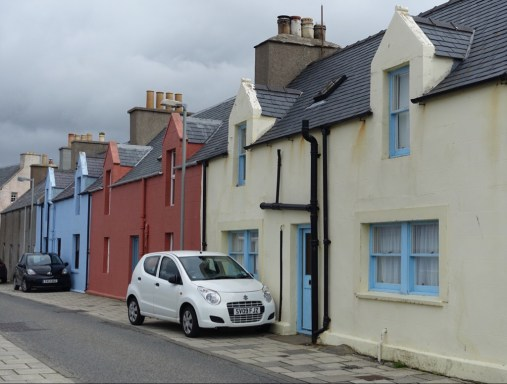 Houses in Scalloway.