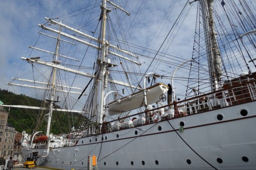 Tall ship in Bergen. It was in Lerwick when we wee there.