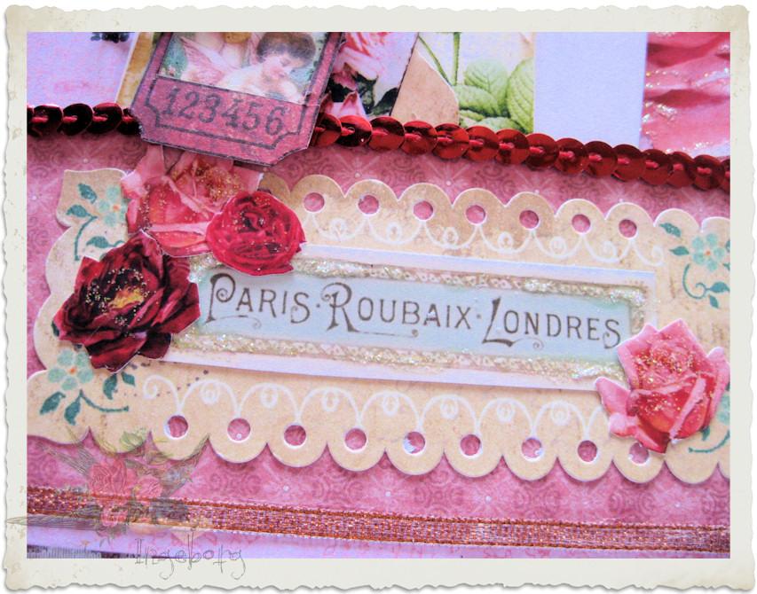 Paris details inside of love journal