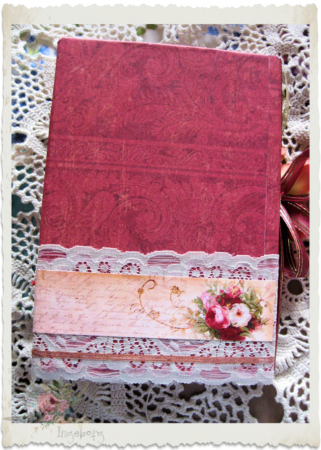 Backside of 'young ladies journal'.