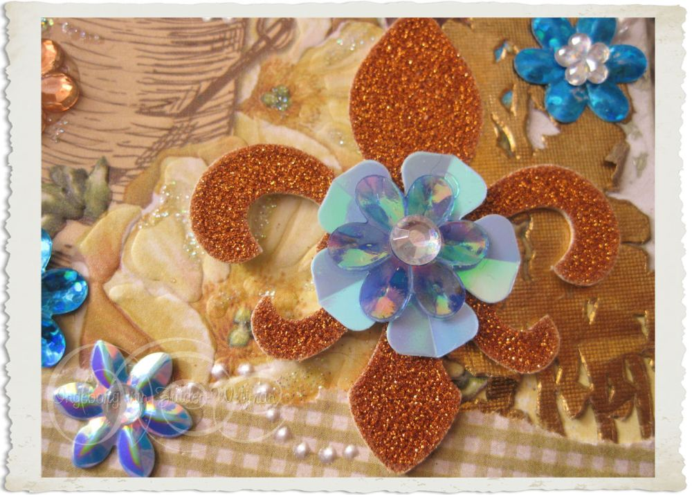 French lily in glitter style