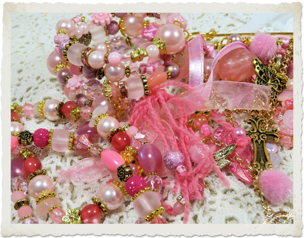 Pink jewelry by Ingeborg
