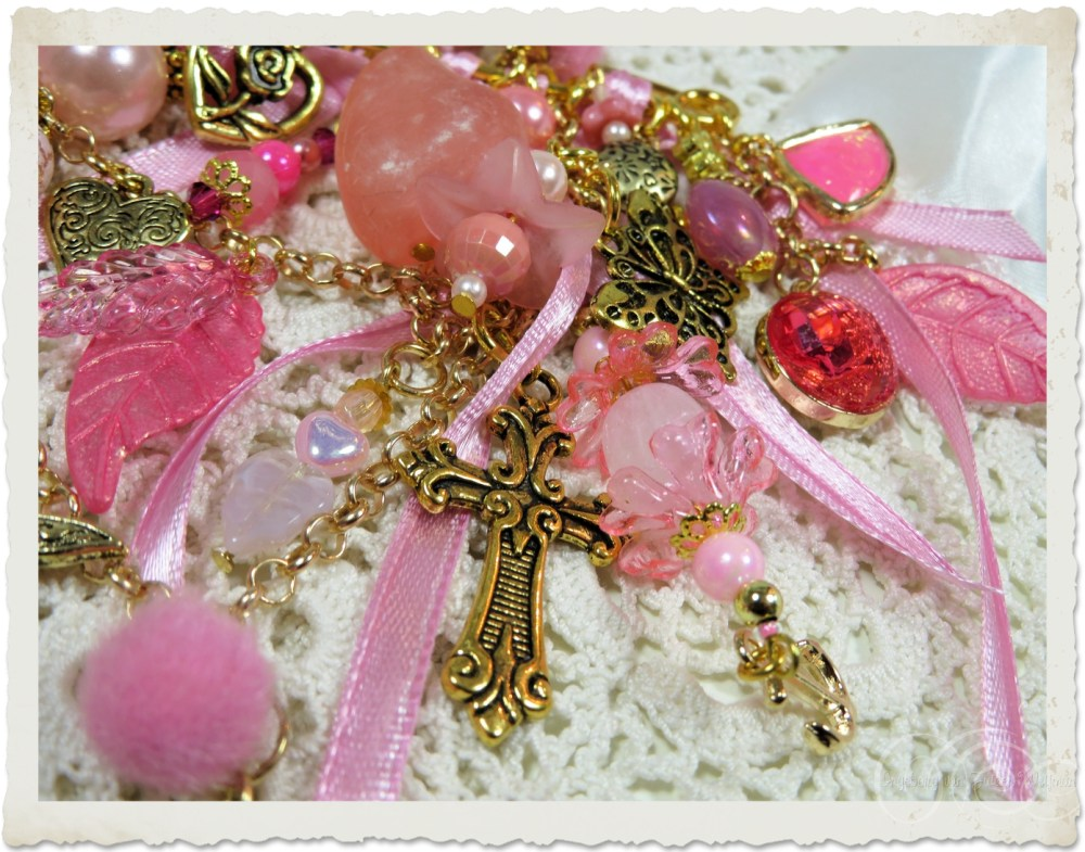 Pink dangles with ribbons