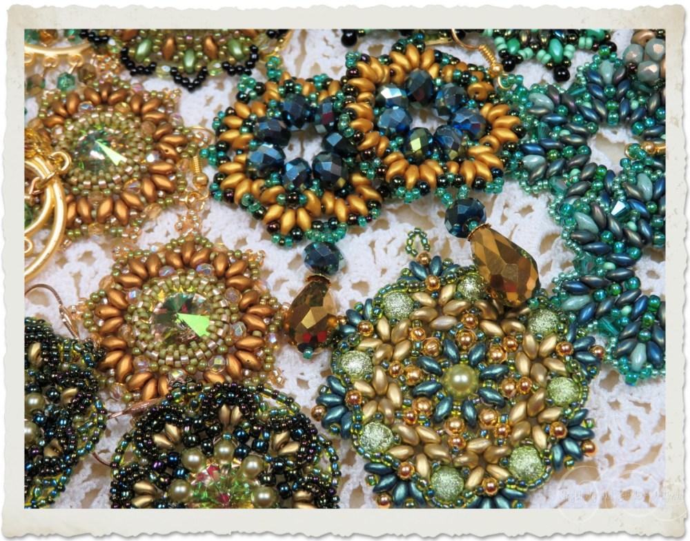 green gold jewels