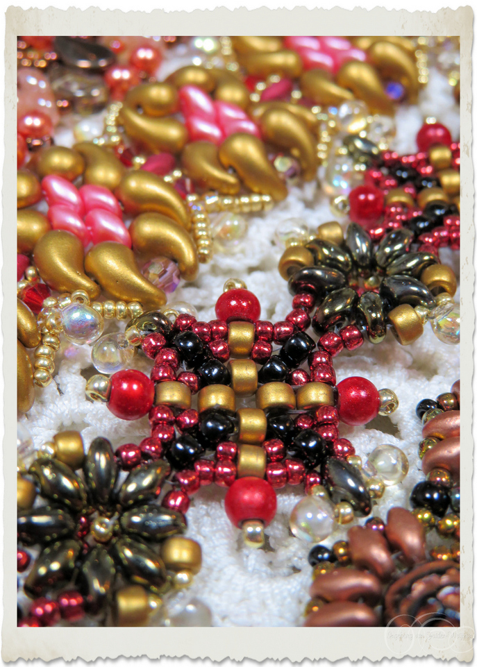Details of Matubo beads and Miracle beads