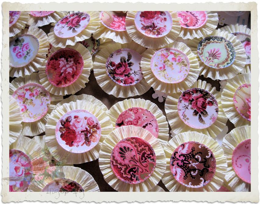 Shabby chic handmade flower rosettes