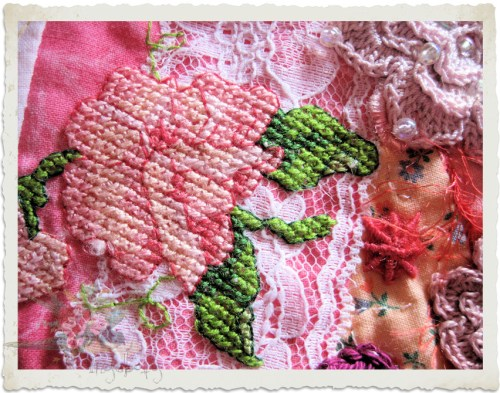 cross-stitch sweet pea by Ingeborg van Zuiden