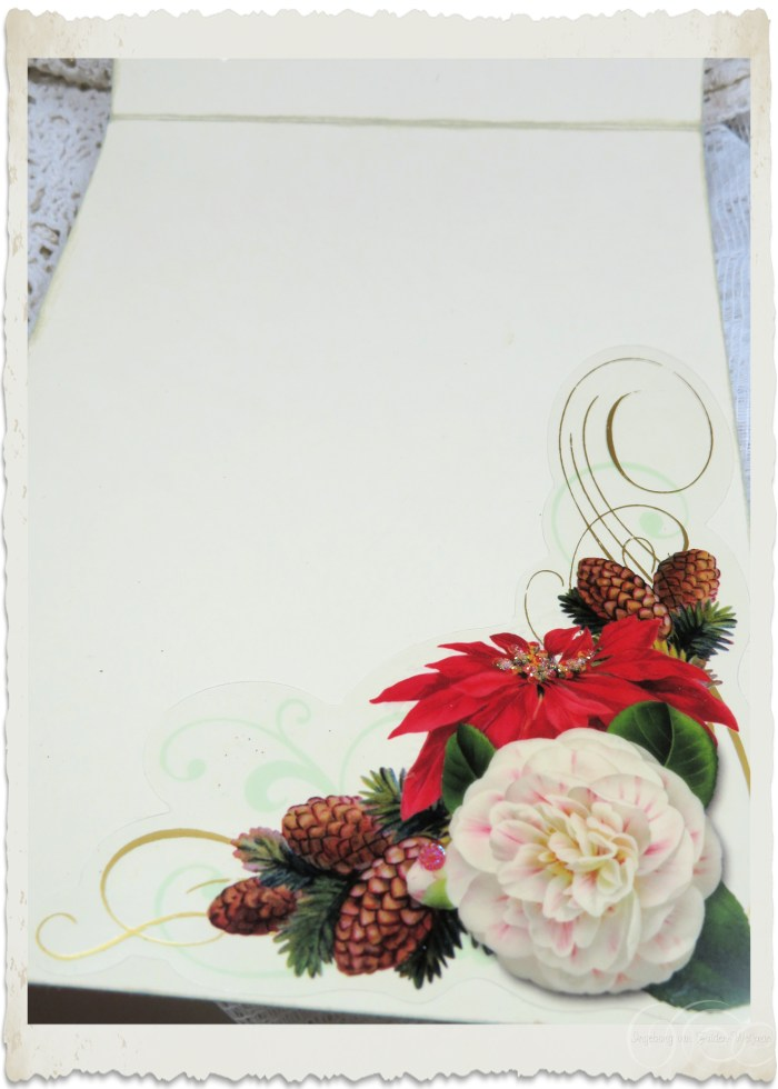 Inside decor of Christmas card