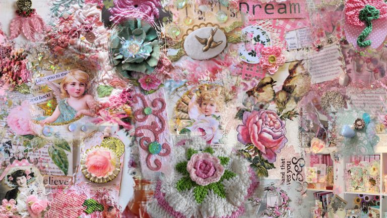 Preview Angels and Roses digital wallpaper by Ingeborg van Zuiden Free to download