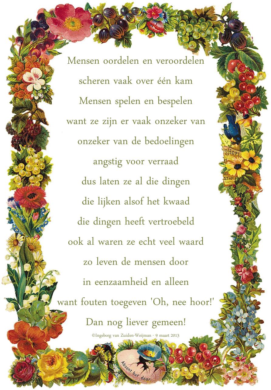 Gedicht 'Oordeel' door Ingeborg van Zuiden