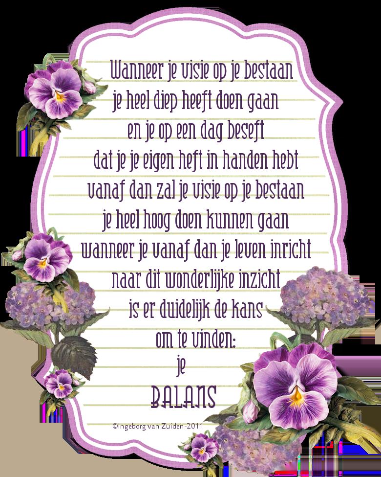 Gedicht 'Balans' door Ingeborg van Zuiden