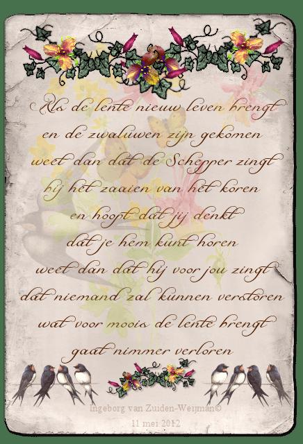 Gedicht 'Lente' door Ingeborg van Zuiden