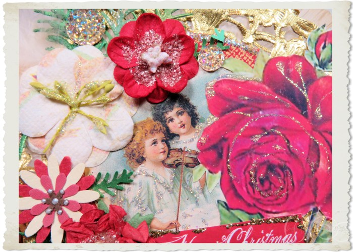 Victorian angels and flowers by Ingeborg
