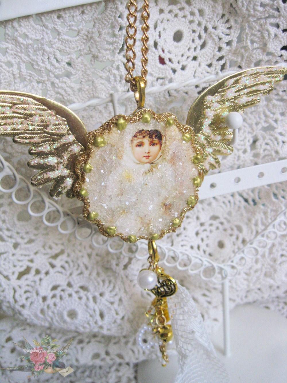 Handmade angel hanger