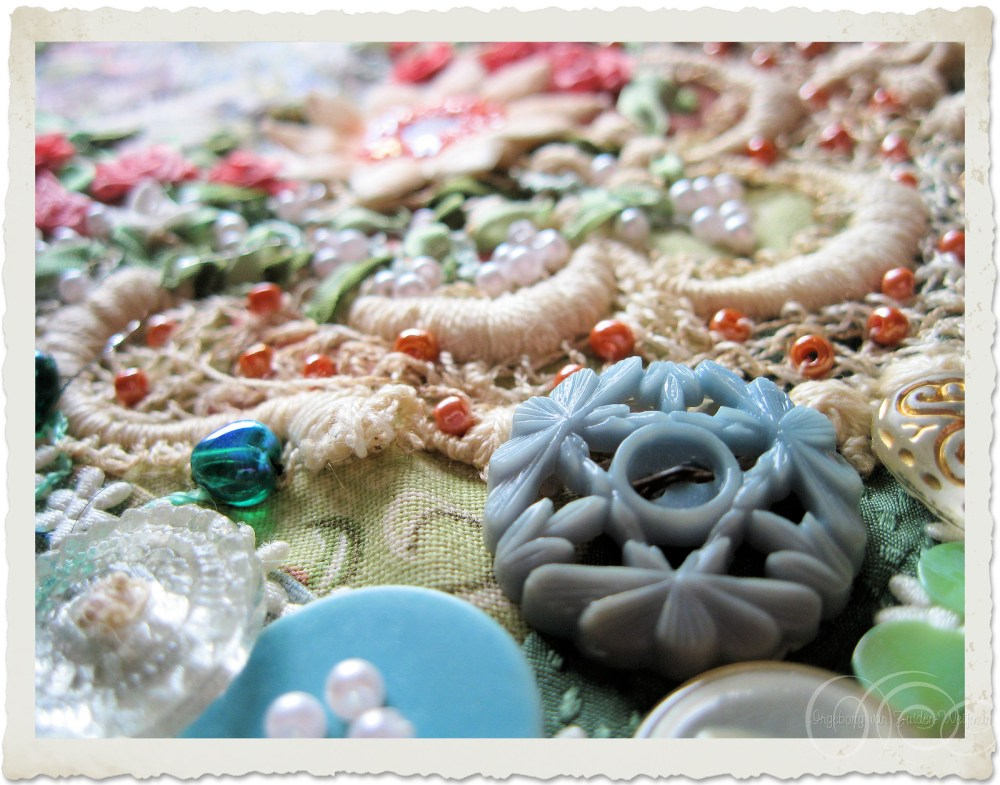 Details of buttons and beads