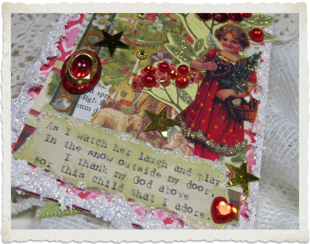 Christmas mixed media art by Ingeborg van Zuiden
