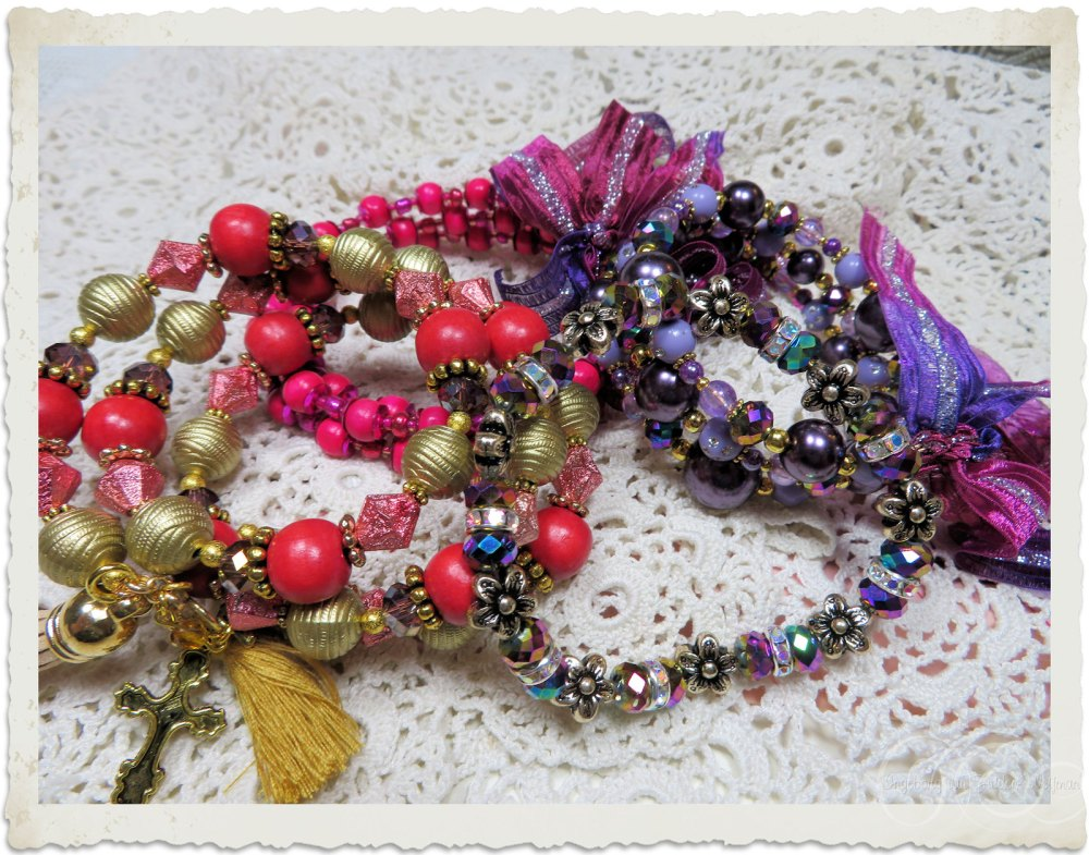 Handmade bracelets by Ingeborg van Zuiden