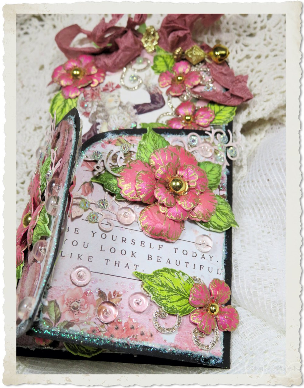 Quote and Oakberry Lane flowers from Heartfelt Creations