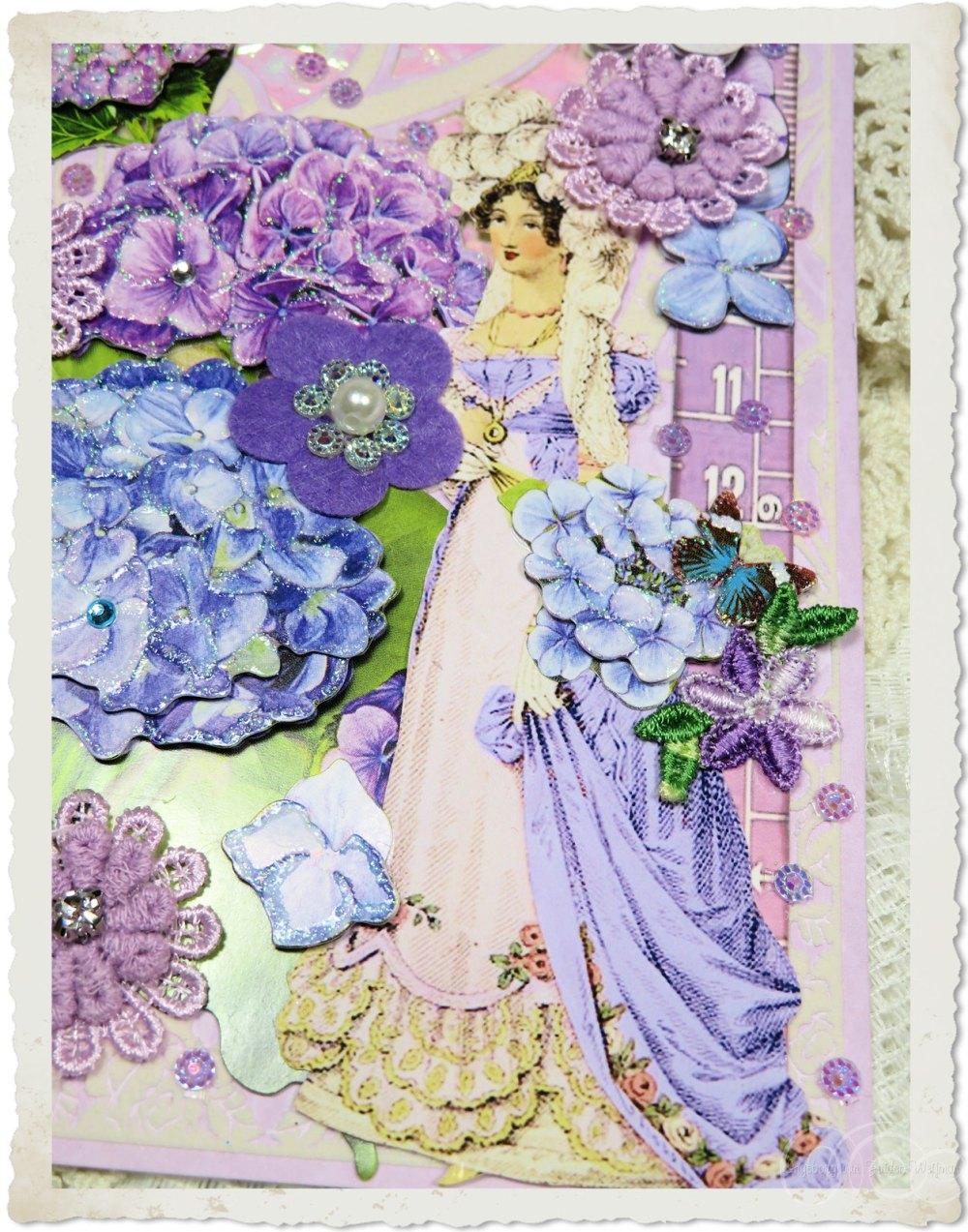 Regency lady with flowers