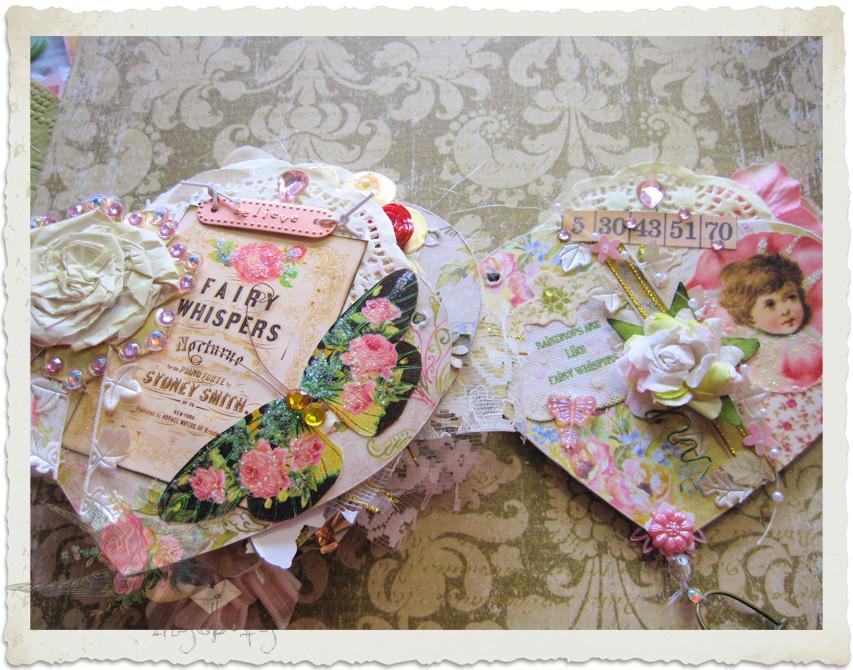 Handmade fairy art book
