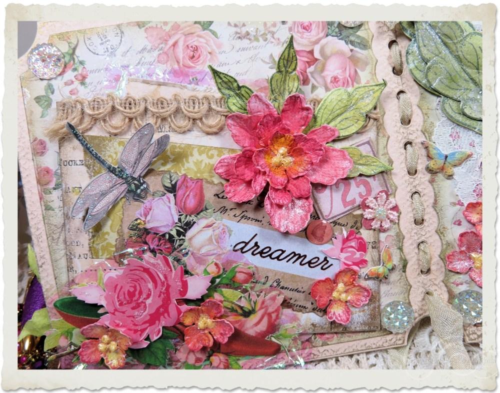 Peony flower card
