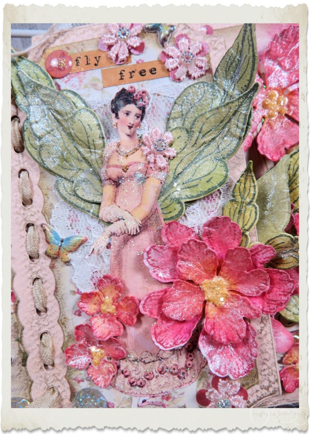 Regency fairy with peony flower by Ingeborg van Zuiden