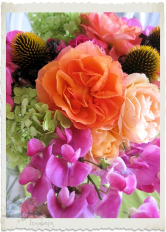 Bright flower bouquet