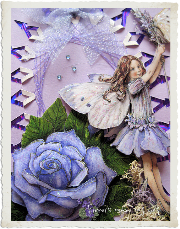 Purple fairy card art by Ingeborg van Zuiden