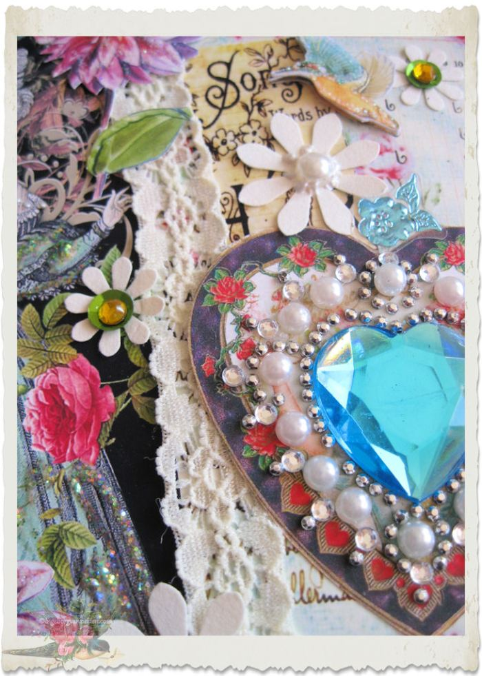 Pearls and crystals around the heart