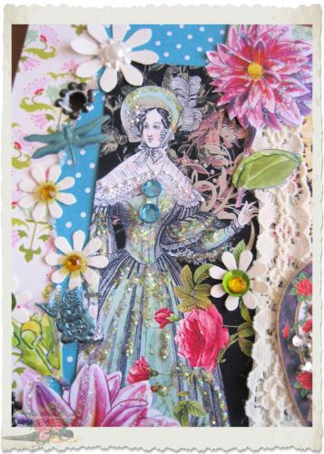 Paper art with regency lady