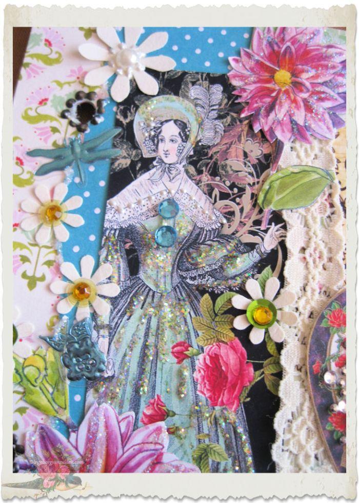Paper art with regency lady