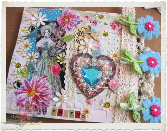 Regency lady page paper art by Ingeborg van Zuiden